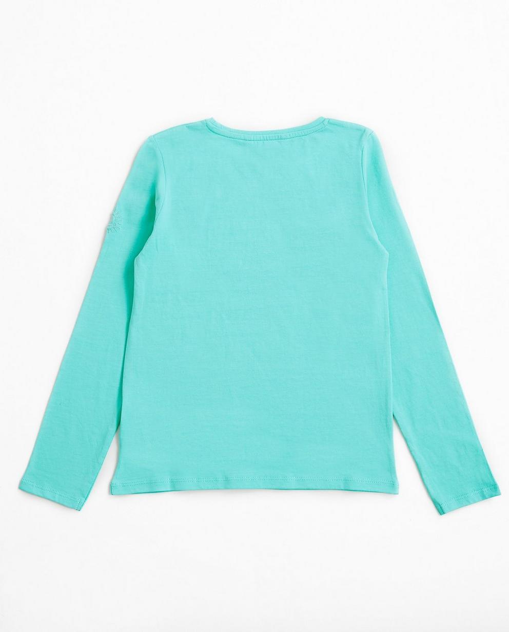 T-shirts - Aqua - Türkisblaues Longsleeve I AM